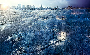 Stephen Wilkes Central Park in Winter