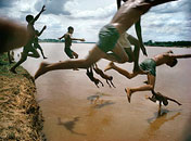 Swimming by Bruno Barbey